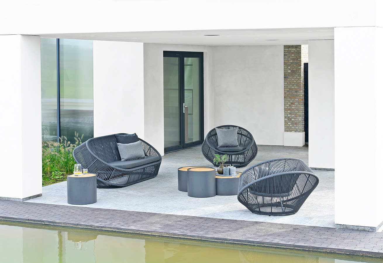 Monsaraz lounge chair & sofa for Borek by Maarten Olden (side tables by Bertram Beerbaum)
