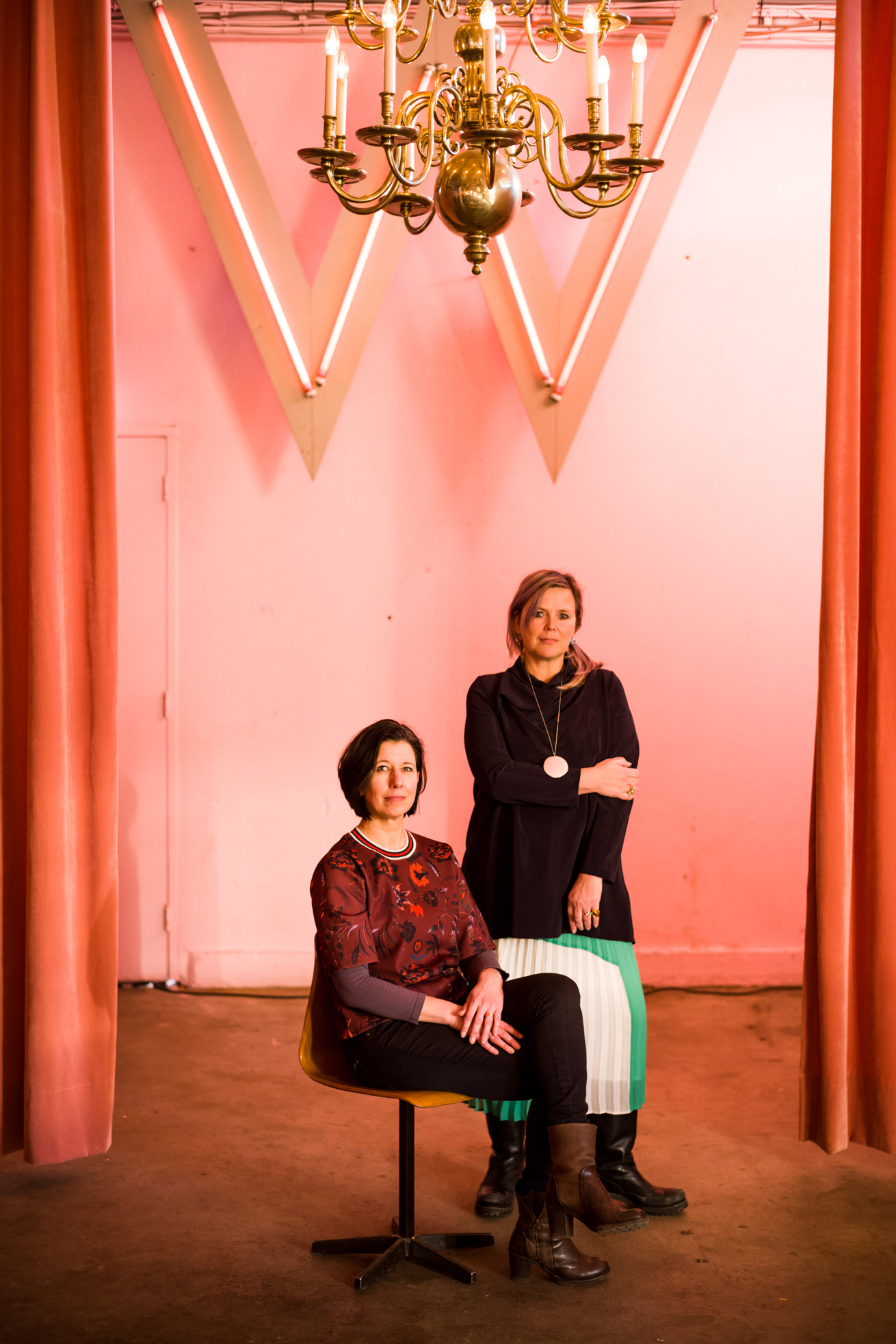 Simone Kramer & Petra Janssen. Photo by Boudewijn Bollmann