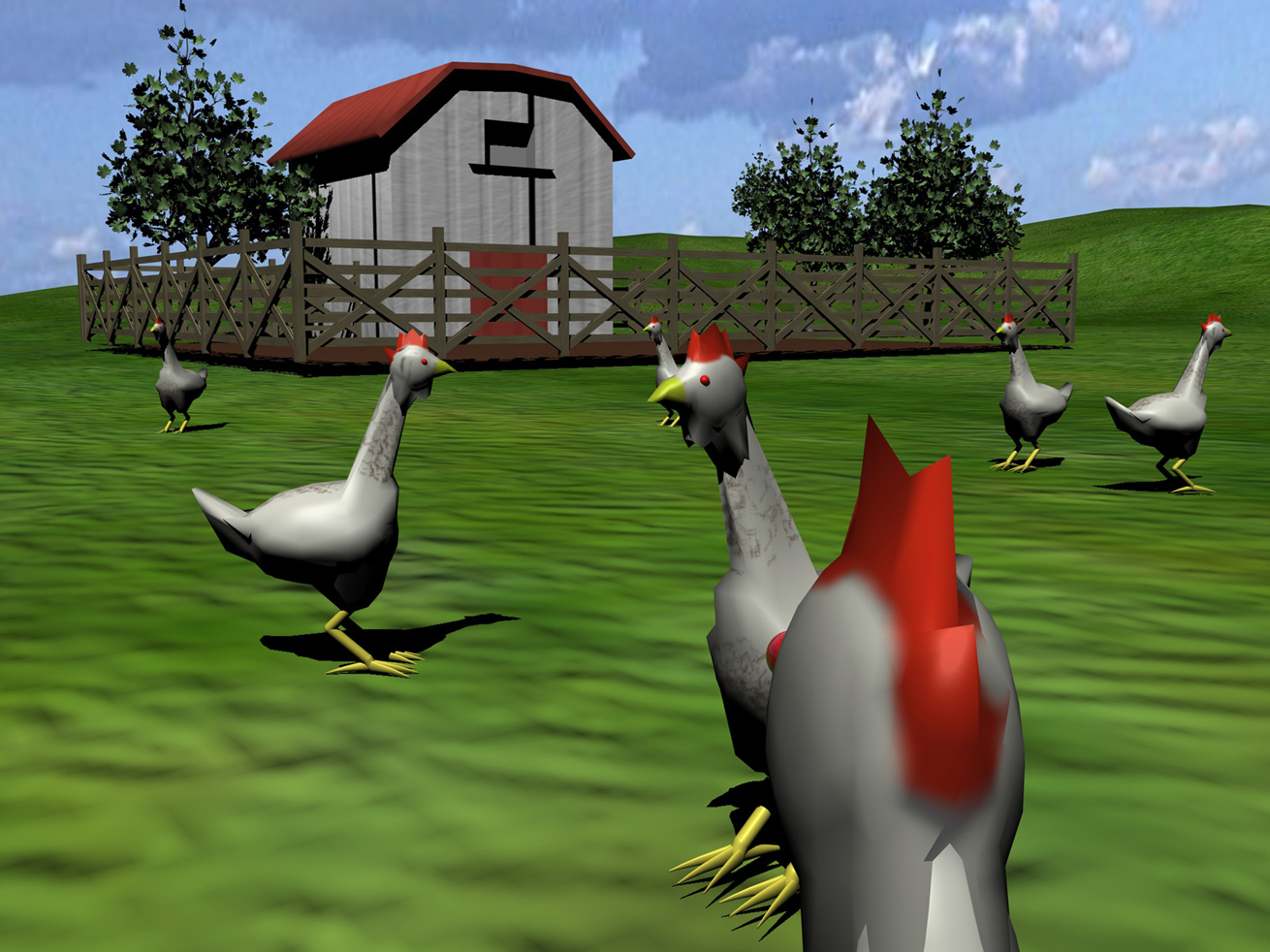 Chickens in VR, Second Livestock by Austin Stewart