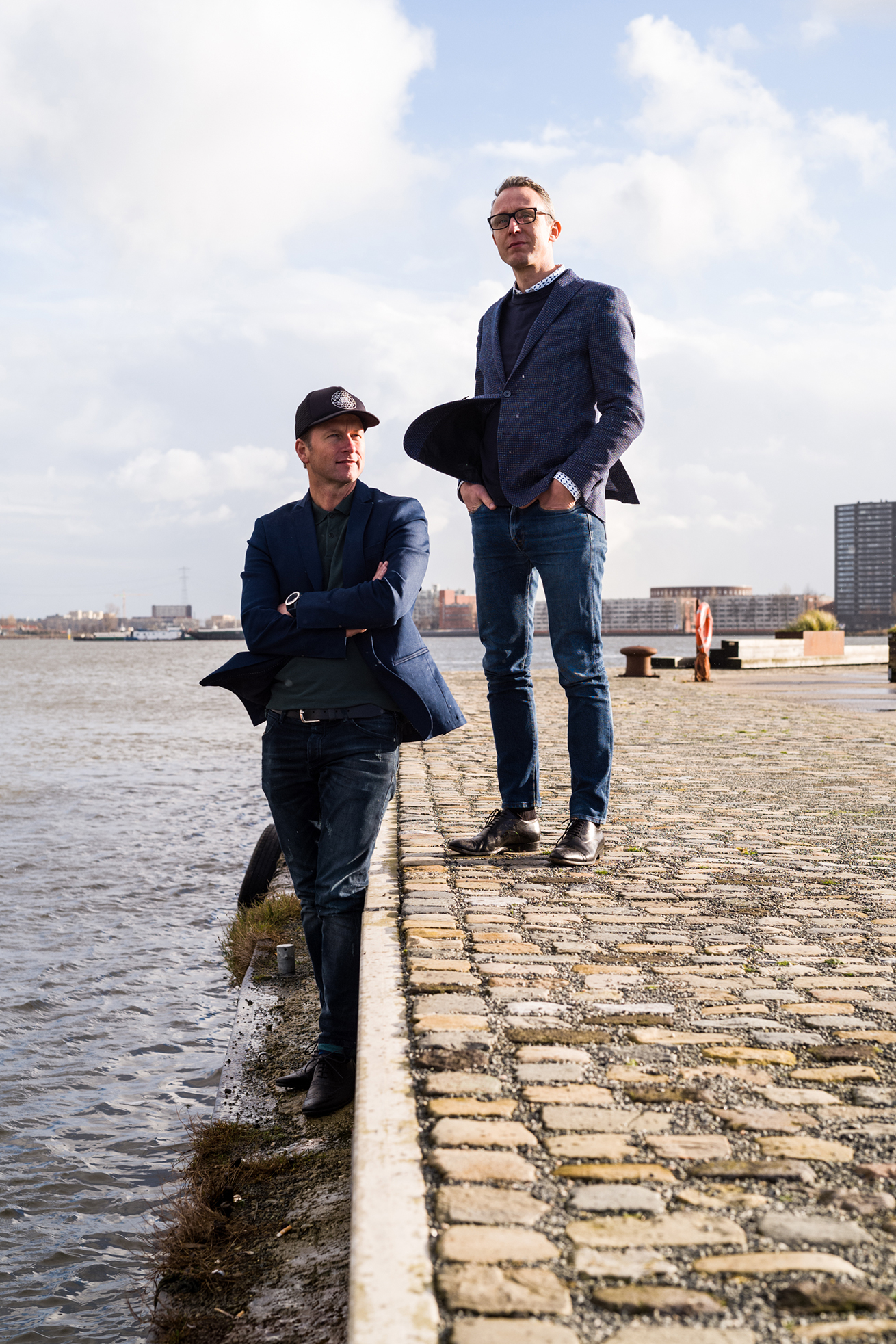 Co-founders of Tuttobene, Victor le Noble and David Heldt. Portrait by Boudewijn Bollmann